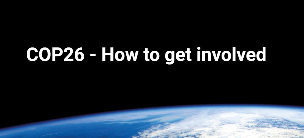 Title image- COP26 How to get involved