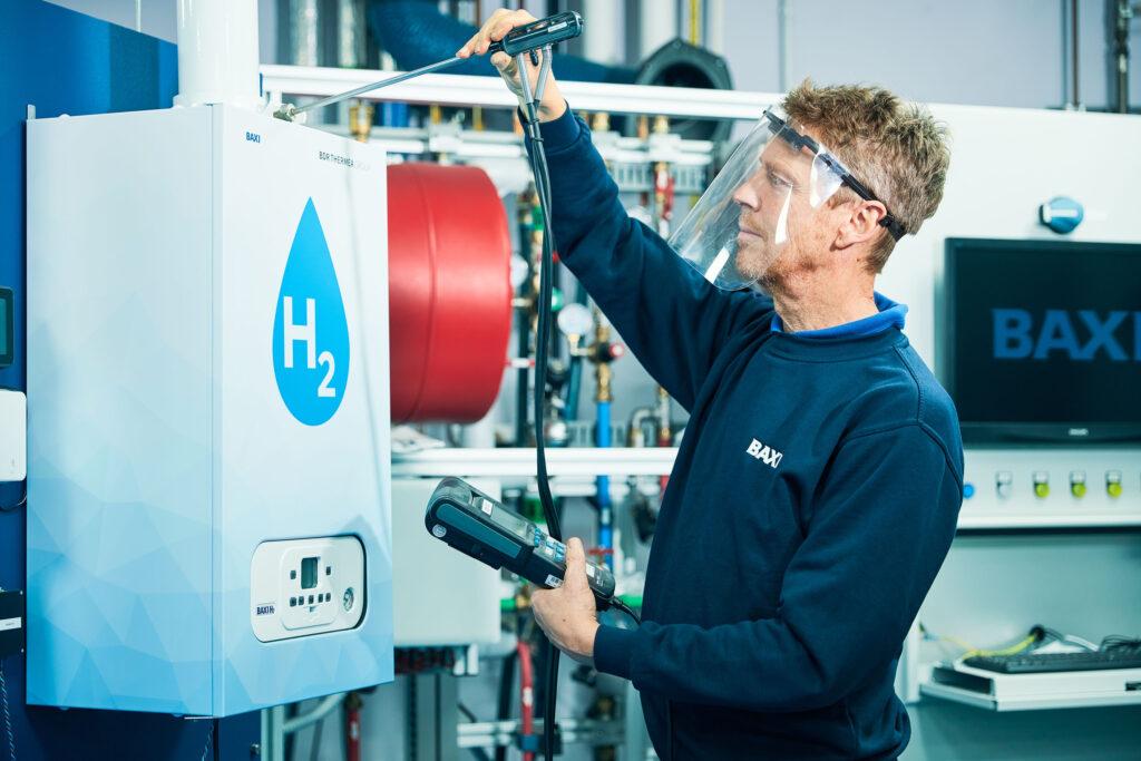 Northern Gas Networks Baxi RD testing 100per cent hydrogen boiler