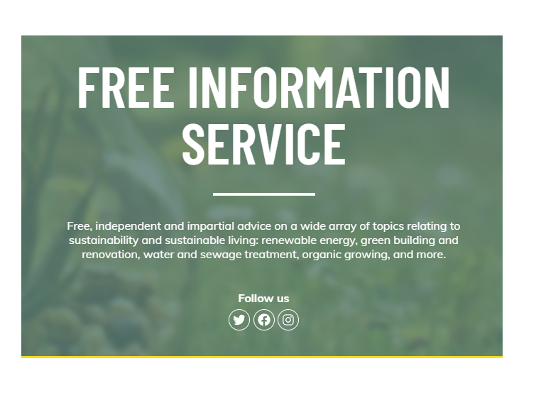 Free information image from Centre for Alternative Technologies