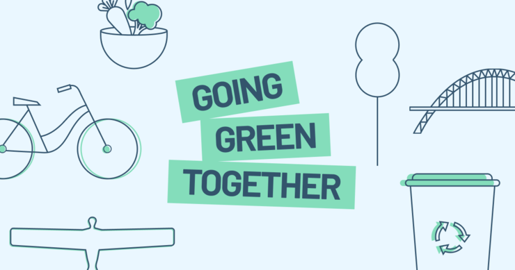 Going Green Together logo and media image