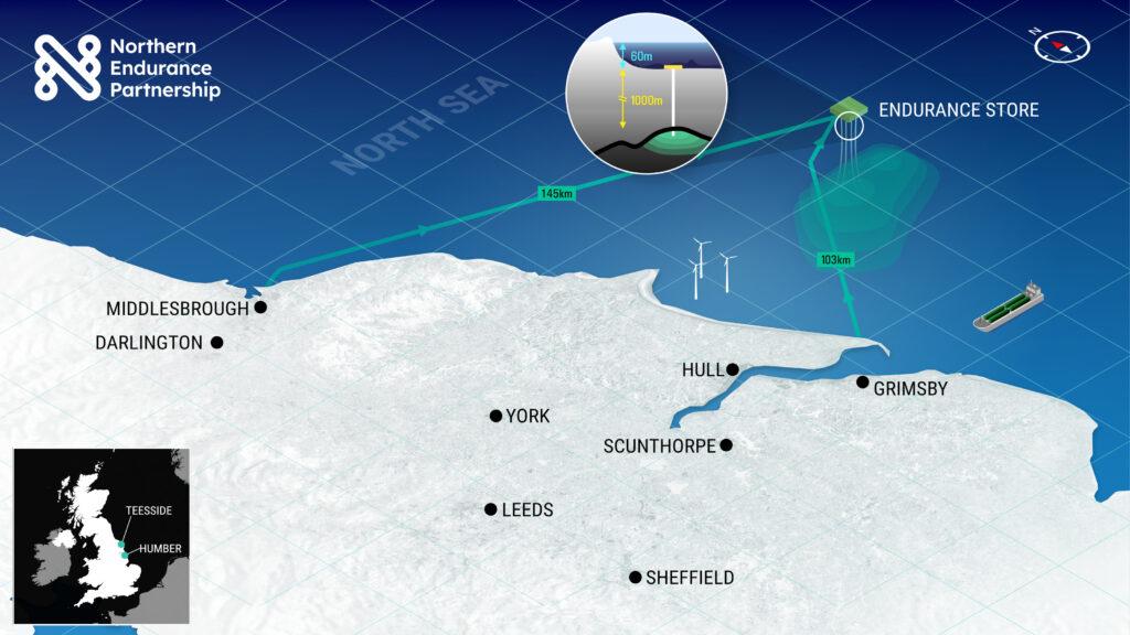 Northern Endurance Partnership Offshore Diagram